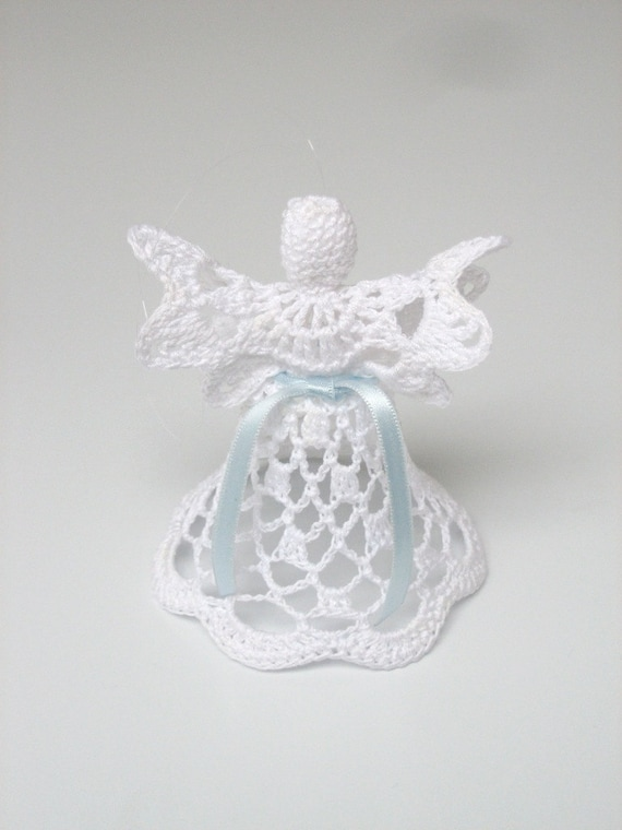 Flat angel white crochet angel angel decoration christmas flat angel white crochet angel angel decoration christmas angel decor christening wedding decor angel ornament do it yourself solutioingenieria Images