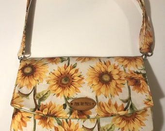 Sunflower Crossbody Purse // Customize // Handbag // Glenda // Vegan