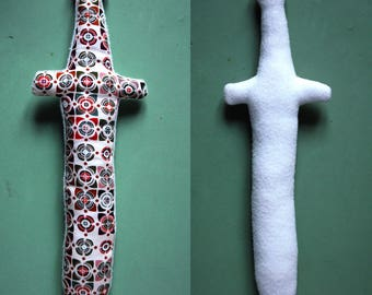 plushie toy sword fabric for Knights in grass - Brown version