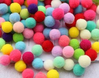 "20mm(0.78"" )Felt Pom pom Balls, Polyester Pom poms, Felt Balls, Garland Pom Poms DIY, Garland Yarn Pom Balls decor(Pack of 100pcs)"