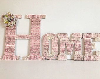 Home Letters, Mantle Decor,Letters for Wall, Mantle Letters, Housewarming Gift, Pink Home Decor,Large Wall Letters, Decorative Letters, Home