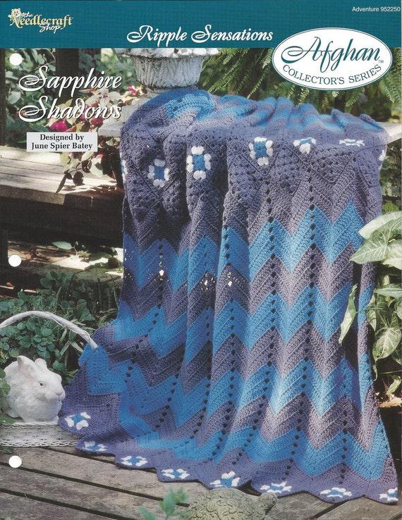 Crochet Granny Ripple Afghan Pattern Home Decor Heirloom