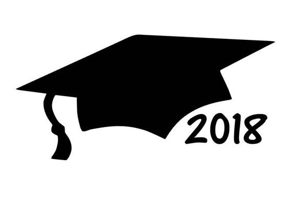 graduation cap car decal 2018 graduation gift class of 2018 rh etsy com Blue Graduation Caps and Tassels graduation cap logo vector