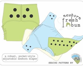 Newborn Fresh Bum Pocket Style Cloth Diaper Pattern
