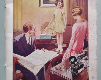 Sewing Simplified Vintage 20s Needlework Book Ada Partington antique 1920s dressmaking book Singer Sewing Machine Co fashion doll pincushion