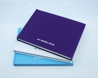 Handmade Sewing Notebook / sketchbook - Purple, blue or white - LIMITED EDITION OF 7!