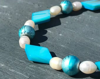 Pearl and Mother of Pearl Anklet
