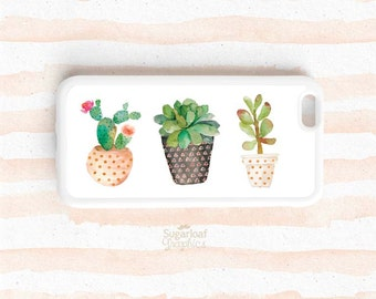 Cactus and Succulents Flower Pots, Wild West iPhone SE 7 6s plus 5C 5S 4s, Note 3 4 5 Samsung Galaxy S7 S6 Edge S5 S4 S3 NP03