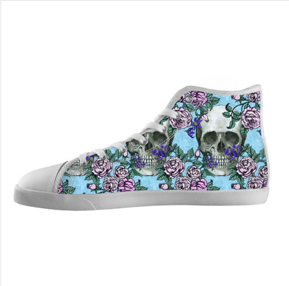 Skulls, Roses, and Deadly Nightshade High Top Shoes