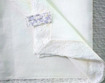 Large linen centerpiece, 110 x 65 cm