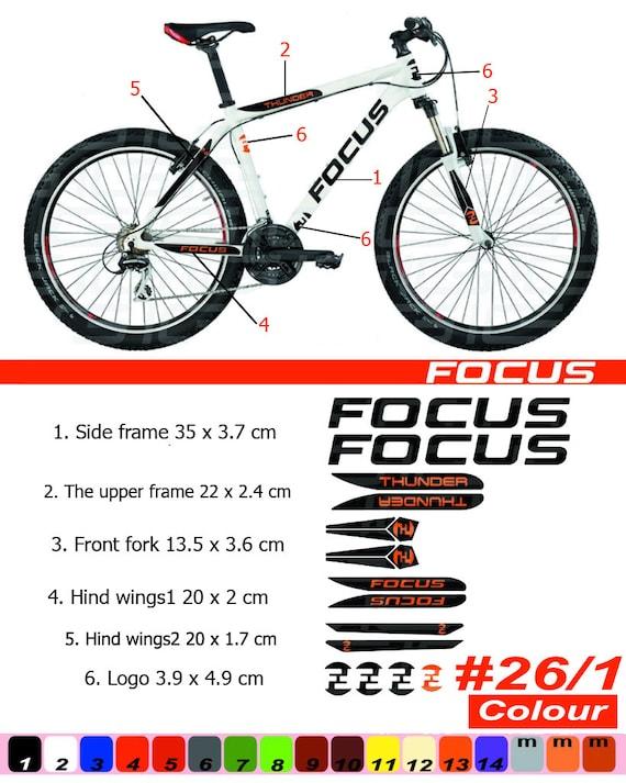 Marco de bicicleta marco etiqueta engomada/Autocollant Bicicletas/montaña/restauración de la etiqueta engomada/MTB BMX/The enfoque, horquilla ...