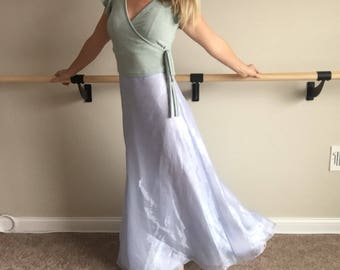 Vintage 90's Periwinkle Formal Maxi Skirt Size 5/6