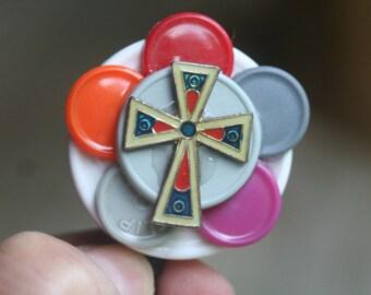 Name badge reel nurse badge recycled medication caps badge holder
