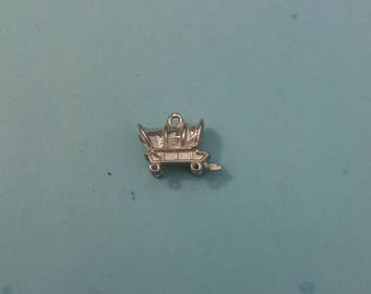 Sterling Silver Covered Wagon Charm