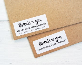30 Thank You For Supporting Small Business Stickers Shop Seller Packaging Package Labels Custom Personalized / 256