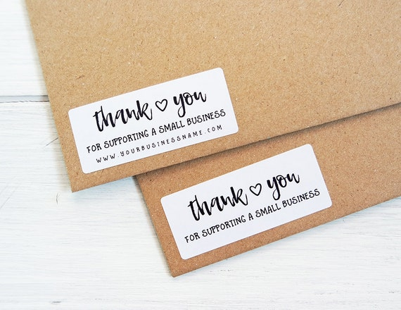 Thank You For Supporting Small Business Stickers Shop - Custom business stickers