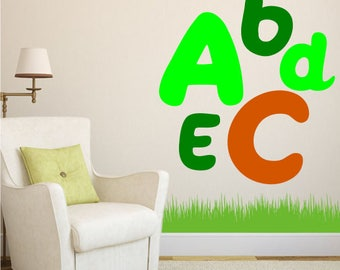 Decorative alphabet vinyl letters A-Z in any colour and size both uppercase and lowercase available for custom quotes, interior, names etc
