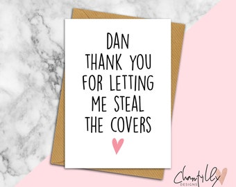 Steal The Covers - Funny Valentine's Day Card - Funny Anniversary Card - Birthday Card - Boyfriend Card - Girlfriend Card - Anniversary Card