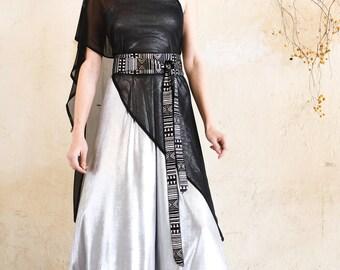 Black Chiffon Shawl, Shawla, Formal, Evening, Elegant, Special Occasion, Made To Order, Women, Scarf, Sheer, Wrap