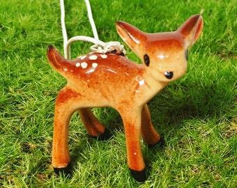 Miniature Deer Necklace - Woodland creatures - whimsy - Kawaii Kitsch - deer pendant, deer jewellery - Bambi - Christmas necklace - Fawn