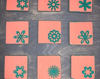 Handmade Wooden Magnets (Set of 9)