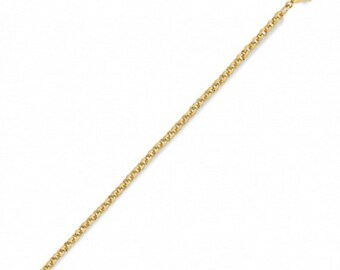 gold plated mesh chain jaseron 1 mm 46cm