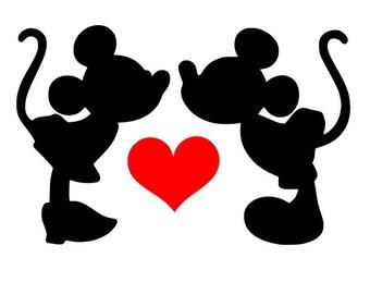 Minnie & Mickey Decal