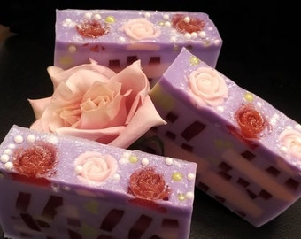 Lavender Rose - mango butter, unique soap, shea butter, cocoa butter, indulgent soap, floral soap, pretty soap, mothers day gift