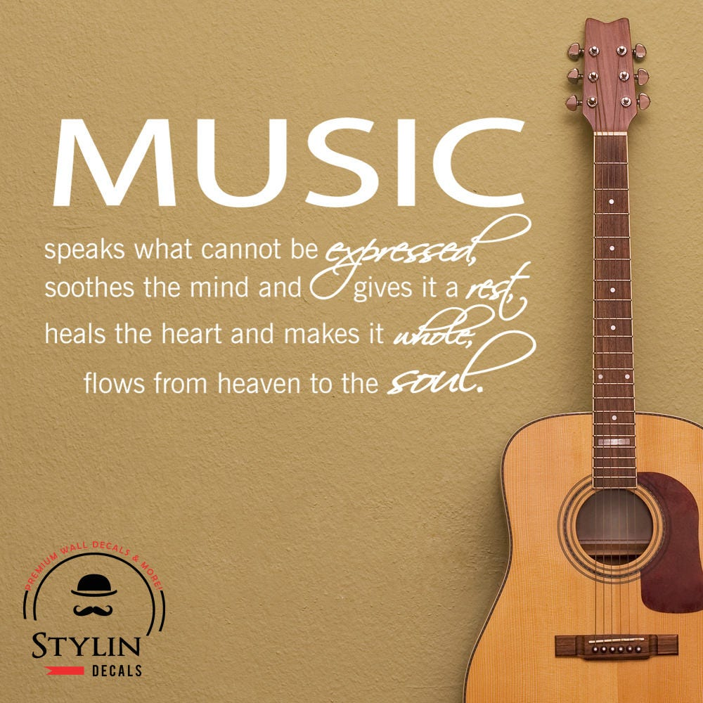 MUSIC Wall Art MUSIC Wall DECAL Music Inspired Wall Decal