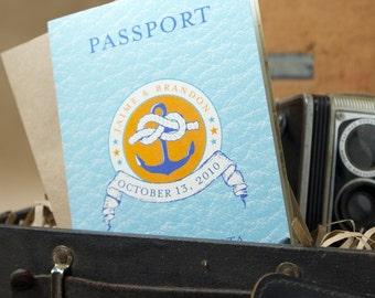 Passport Cruise Wedding Invitation (Mexico, Caribbean) - Design Fee