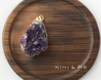 Natural Amethyst Necklace //  Amethyst Pendant // Gemstone Necklace // Inspirational Gift // Gift for Mom