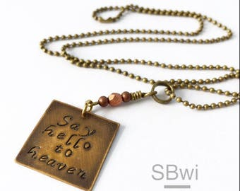 Chris Cornell necklace in bronze with copper detail