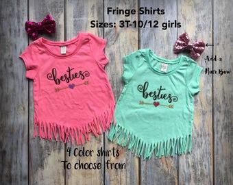 Best Friend Shirts, Best Friend matching shirts, friend shirts, besties shirts, best friends t-shirt, friends tees, fringe shirts