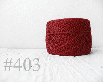 Laceweight Linen yarn - dark rust #403