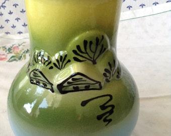 """Hand Made Clay Vase """"Little Village"""""""