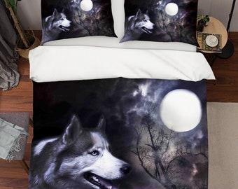 Wolf 3d Dw 45 Housse De Couette Couette Lit Taies D Oreiller De