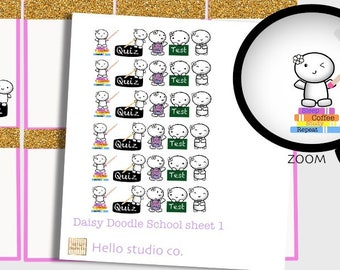Back to school planner stickers study planner stickers