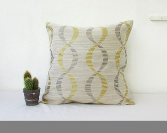 Gold and grey cushion cover, textured pillow cover, gold cushion, 16 inch 40 cms cushion, gold gray throw pillow, handmade in the UK
