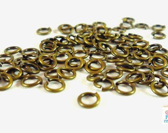 200 rings 3mm round bronze (AP119)