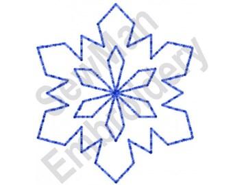 Schneeflocke - Maschine Stickerei-Design