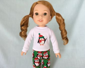 Penguin Pajamas for Wellie Wisher/14.5 Inch Doll