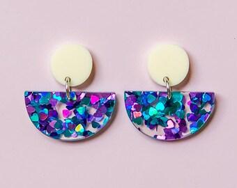 EARRINGS | Dessert Island Half Moon : Mid And Fancy Hello Miss May Drop Earrings