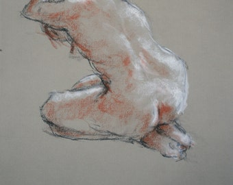 Samantha Gesture 14/Figure Drawing/Pastel