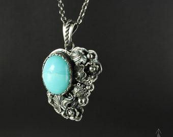 Opal necklace - Lotus necklace - Harmony necklace - Sterling silver necklace- Boho necklace - Zen necklace - Handmade