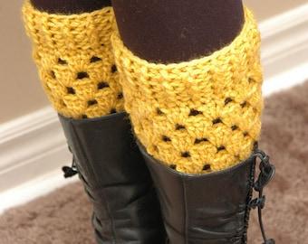 INSTANT DOWNLOAD - Crochet boot cuffs PATTERN - elegant boot cuffs leg warmers, leg warmers, boot socks