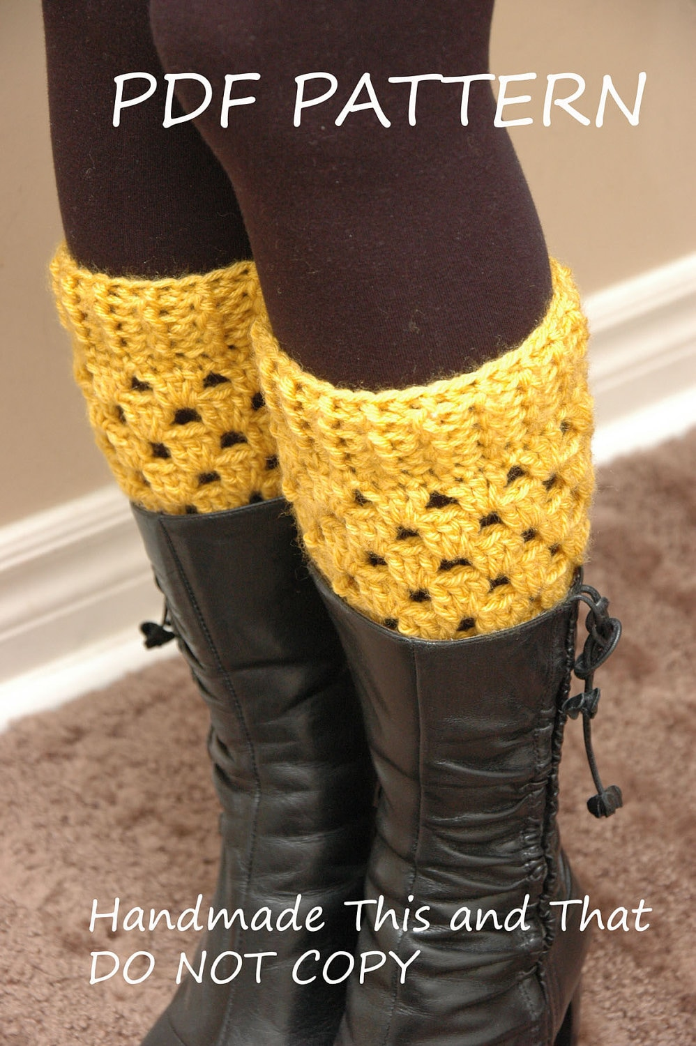 INSTANT DOWNLOAD Crochet boot cuffs PATTERN elegant boot