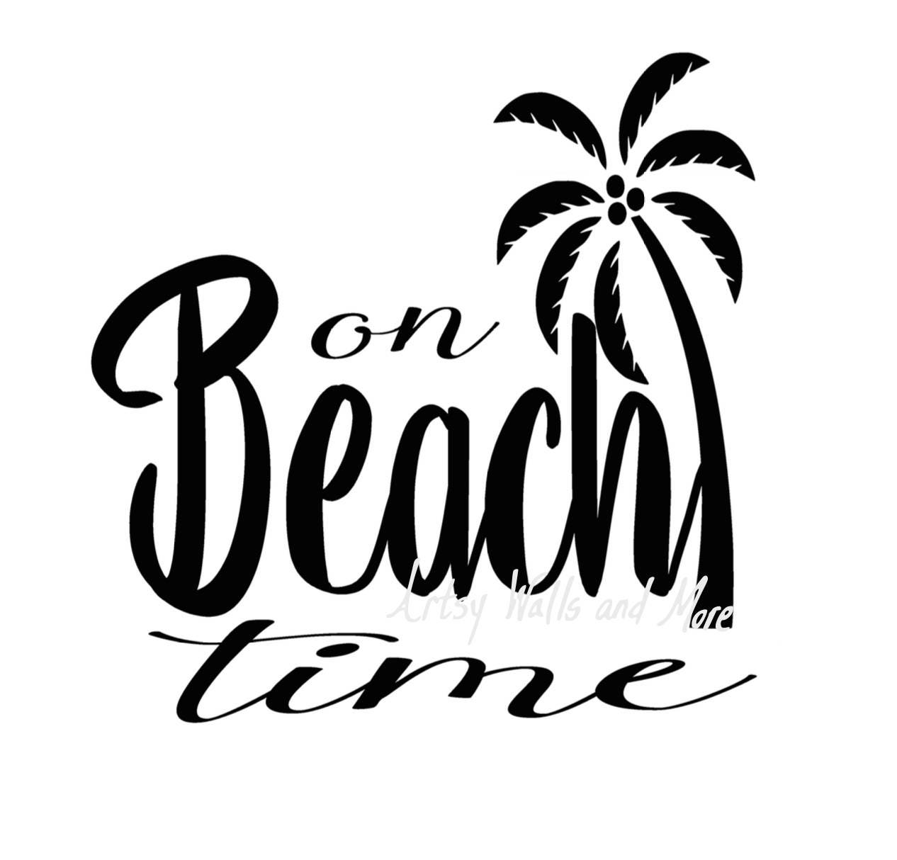 On beach time svg I'm on beach time with palm tree svg