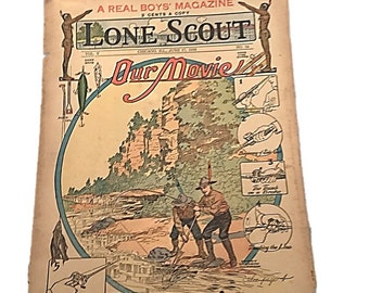 The Real Boys Magazine |  Lone Scout |  Our Movie Fishin June 17 1916 |  Perry Emerson Thompson