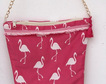 Pink Flamingo Bucket Bag- The Sunsationals