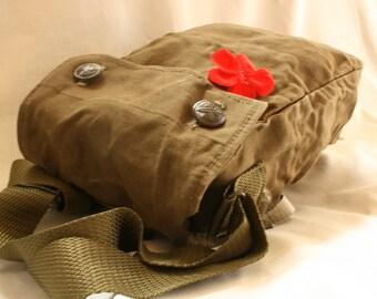 Vintage Military Bag, Crossbody Bag, Canvas Bag, Vintage Messenger Bag, Military Bag, Messenger Bag, Shoulder Bag, Army Bag, Cross Body Bag